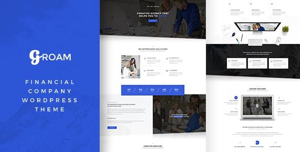 Groam - Financial Company WordPress Theme - Business Corporate
