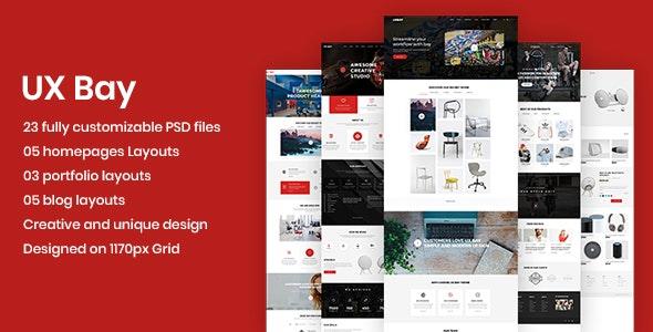 UX Bay - Creative Multi-Purpose PSD Template - Creative Photoshop