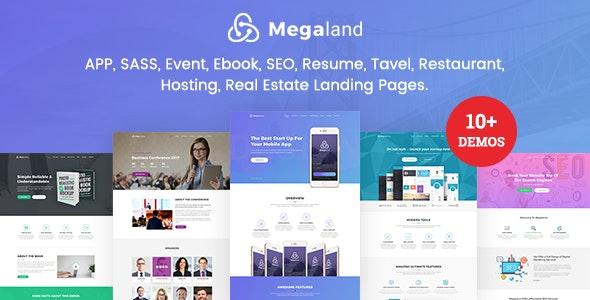 MegaLand - Multipurpose Landing Page Template - Landing Pages Marketing