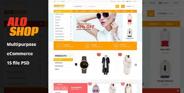Aloshop | eCommerce PSD Template - Retail Photoshop