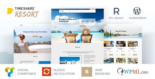 TimeShare - Single Property / Resort WordPress Theme