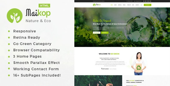 Maikop - Environment / Non-Profit HTML Template - Environmental Nonprofit