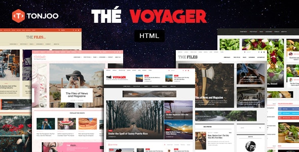 The Voyager - Multi Purpose Magazine and Blog HTML Template - Retail Site Templates