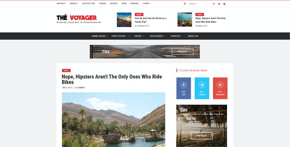 The Voyager - Multi Purpose Magazine and Blog HTML Template