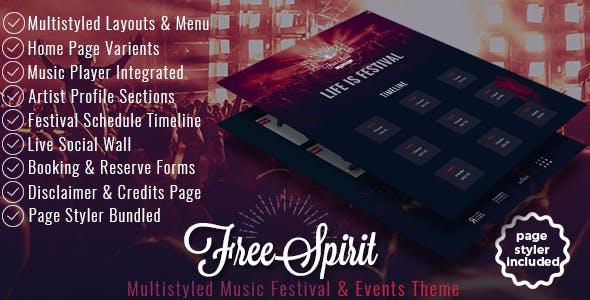 FreeSpirit - Music Festival & Event Template