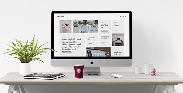 Pasadena - Contemporary Portfolio WordPress Theme for Creatives - Creative WordPress