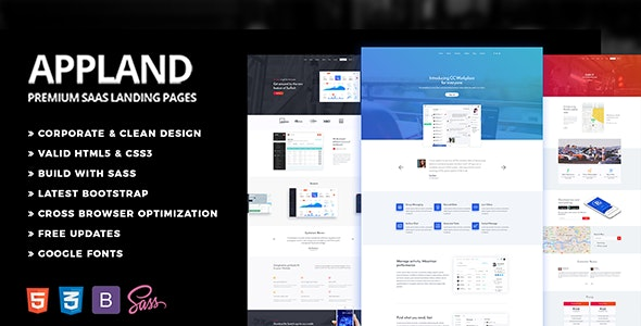 Appland - Multipurpose Software SaaS Product Template - Software Technology