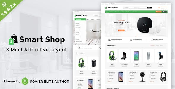 Smart Shop - Responsive Magento 1 & 2 Theme