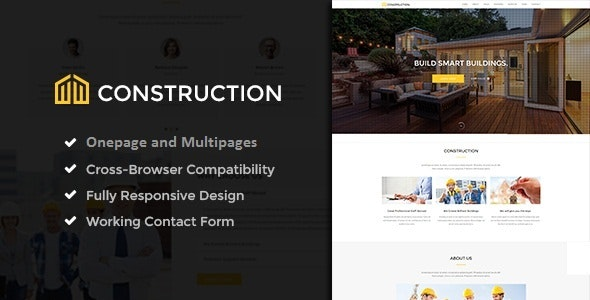 Construction - One and Multipage Template - Corporate Joomla