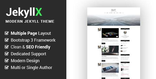 JekyllX - Super Fast Multi-Purpose Jekyll Blog Theme - Jekyll Static Site Generators