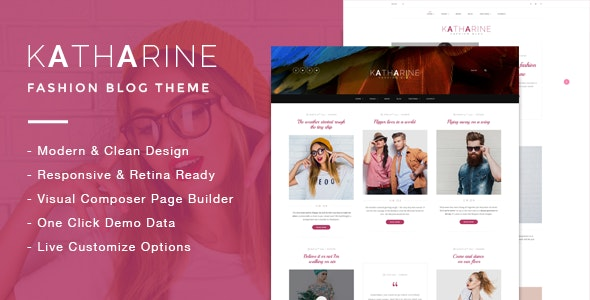 Katharine - Modern Fashion Blog Theme - Blog / Magazine WordPress