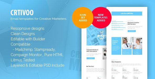 Crtivoo - Creative Business Email Template - Newsletters Email Templates