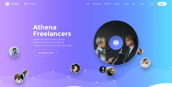 ATHENA - Freelancer and Employers Jobs Search Template