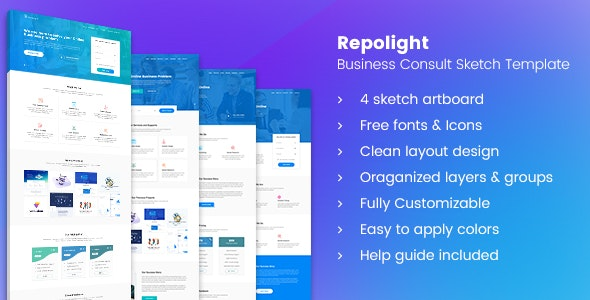 Repolight - Business Consult Sketch Template - Business Corporate