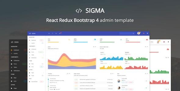 Sigma - React Bootstrap 4 Admin Template - Admin Templates Site Templates