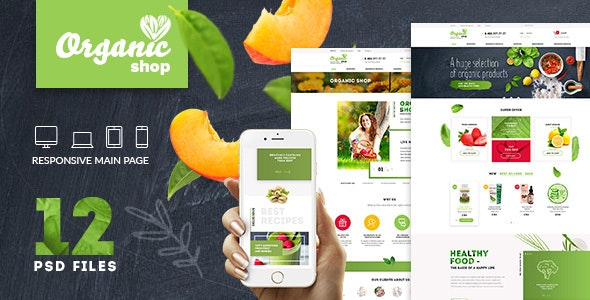 Organic | Organic Food & Cosmetics | PSD Template - Photoshop UI Templates