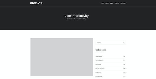 Biodata - Clean Personal PSD Template