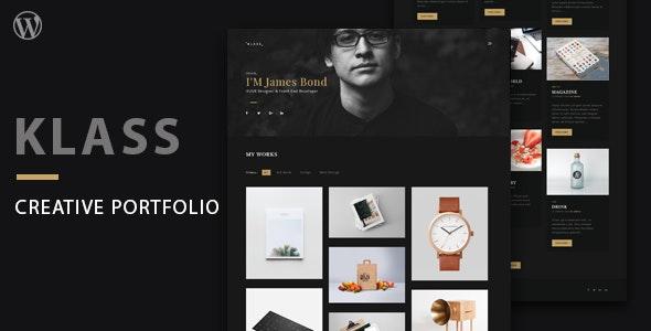 Klass | Dark Minimal Portfolio WordPress Theme - Portfolio Creative