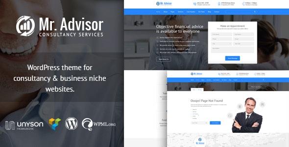 Mr Advisor - Finance and Consultancy WordPress Theme - Business Corporate
