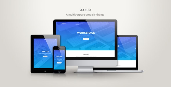 Aashu - A multipurpose drupal 8.x theme - Creative Drupal