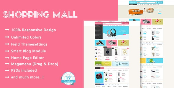 Shopping Mall - SuperMarket Responsive PrestaShop 1.7 Theme - Shopping PrestaShop