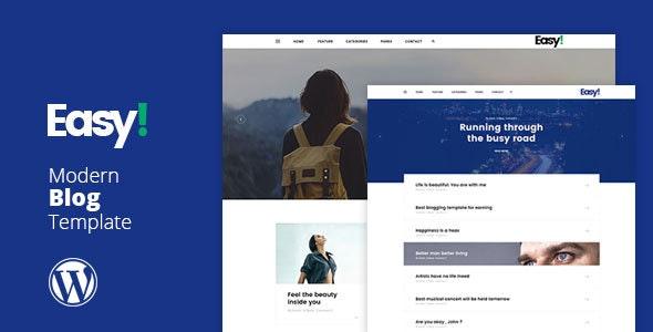 Easy - Minimal Blog WP Theme - Personal Blog / Magazine