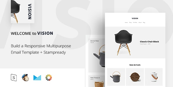 Vision - Responsive Email + StampReady Builder - Email Templates Marketing