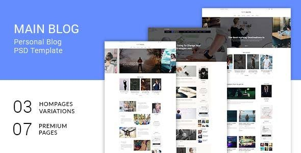 Main Blog - Photoshop UI Templates