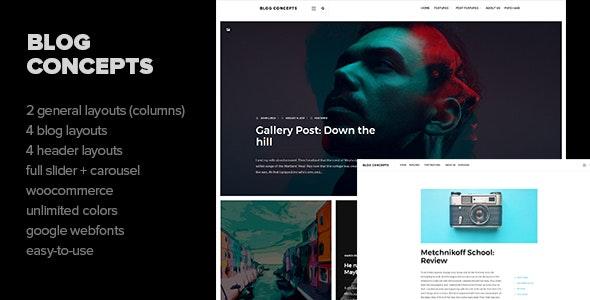 Blog Concepts - Minimalist WordPress Theme for your Blog / Magazine Website - Personal Blog / Magazine