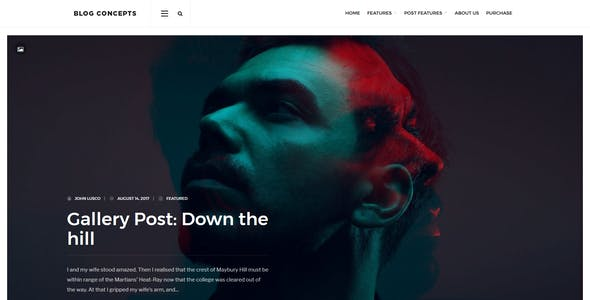 Blog Concepts - Minimalist WordPress Theme for your Blog / Magazine Website