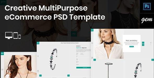 Gem – Creative MultiPurpose eCommerce PSD Template - Fashion Retail