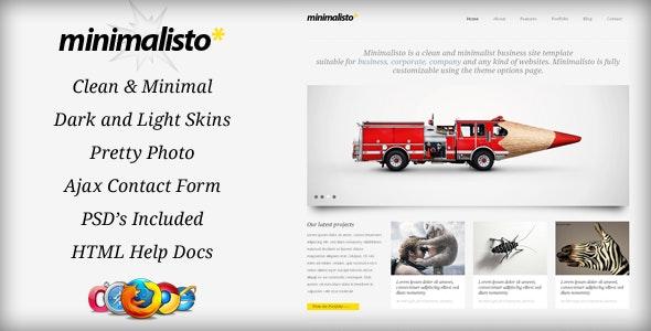 Minimalisto Html Template - Corporate Site Templates