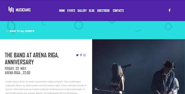 Musicians - Premium Music | Event HTML Template