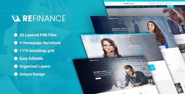 Refinance - Finance / Tax / Corporate PSD Template - Business Corporate