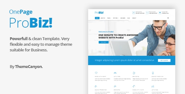 Probiz - Onepage Creative Multipurpose Joomla Template - Joomla CMS Themes