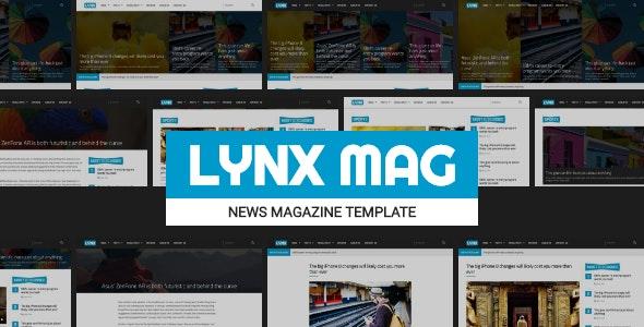 LYNX - Responsive News Magazine Template - Entertainment Site Templates