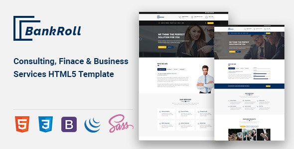 Bankroll - Consulting, Business, Finance HTML5 Template - Corporate Site Templates