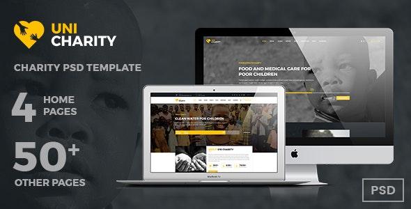 UniCharity | Charity PSD Template - Charity Nonprofit