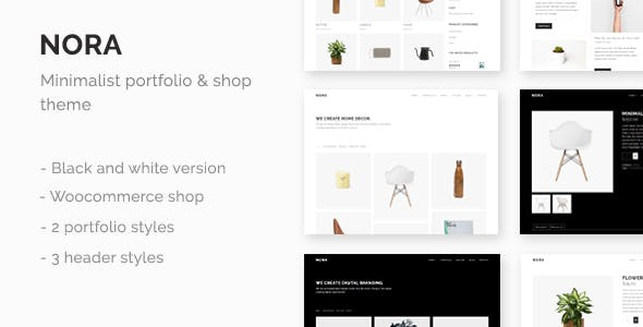 Nora - Minimal Portfolio & Shop Theme