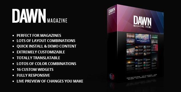 Dawn Magazine Theme - News / Editorial Blog / Magazine