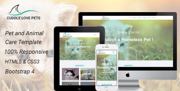 Cuddle Love Pet - A Complete Pet Shop, Job Directory HTML5 Template.