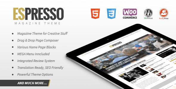 ESPRESSO - Magazine / Newspaper WordPress Theme - News / Editorial Blog / Magazine