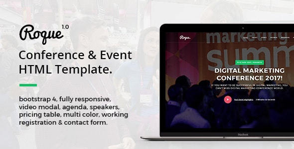Roque - Conference & Event HTML Template - Events Entertainment