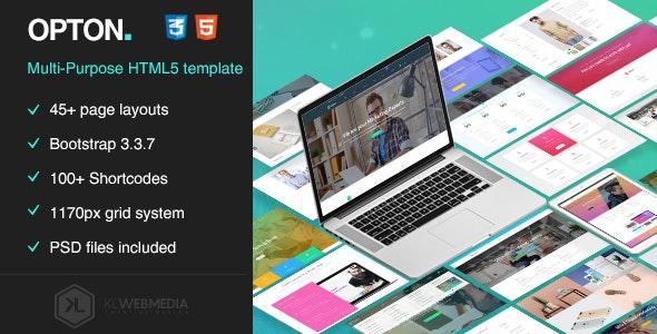 Opton - Multi-Purpose HTML5 Template - Business Corporate