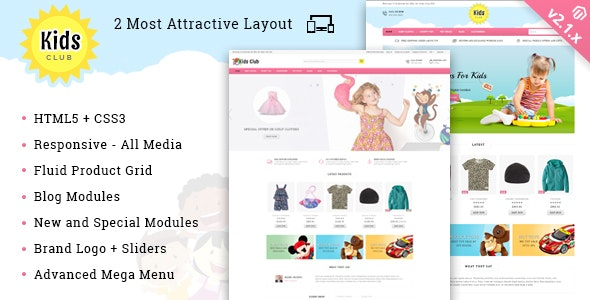 Kids Club - Responsive Magento 2 Theme - Fashion Magento