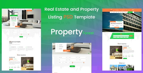Real Estate and Property Listing Template - Retail Photoshop