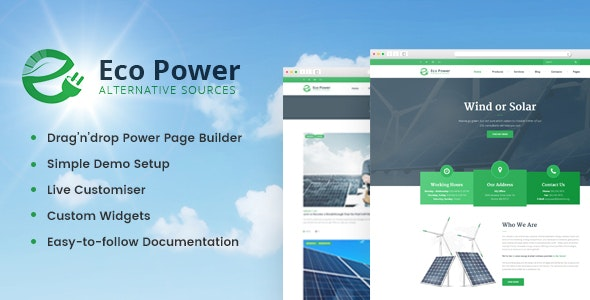 EcoPower - Alternative Power & Solar Energy Company - Business Corporate