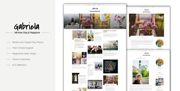 Gabriela - Crafted Blog WordPress Theme - Personal Blog / Magazine