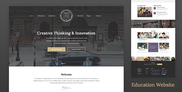 Unisco - Education WordPress Theme - Education WordPress