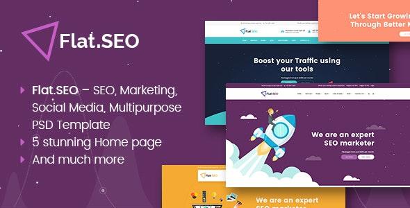 Flat SEO - PSD Template - Corporate Photoshop